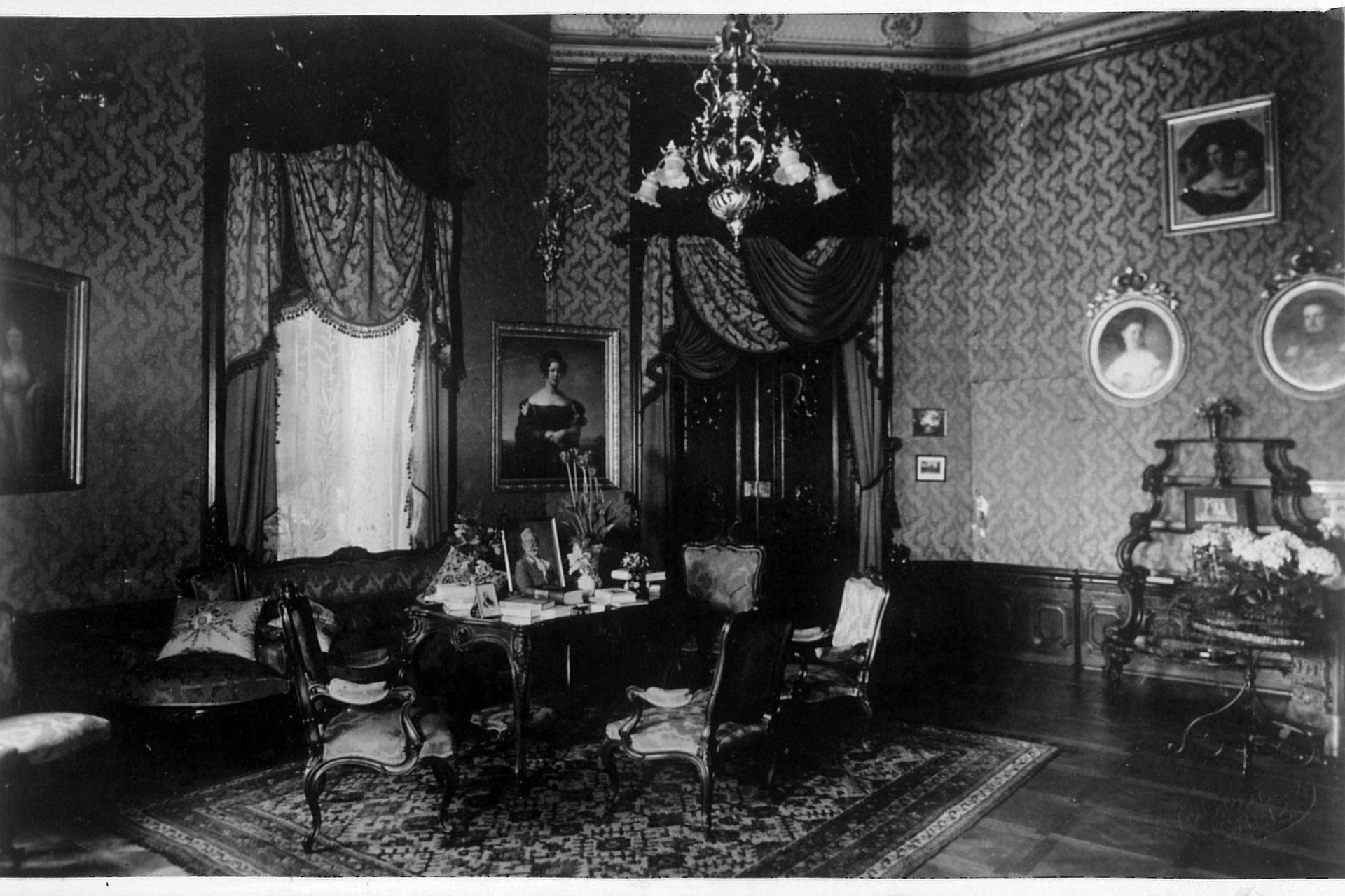 Blauer Salon Foto: Museen der Schloss- und Residenzstadt Greiz
